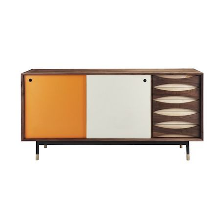 Hanna 3 White On White Small Sideboard Furniture Mid Century Modern Cabinets