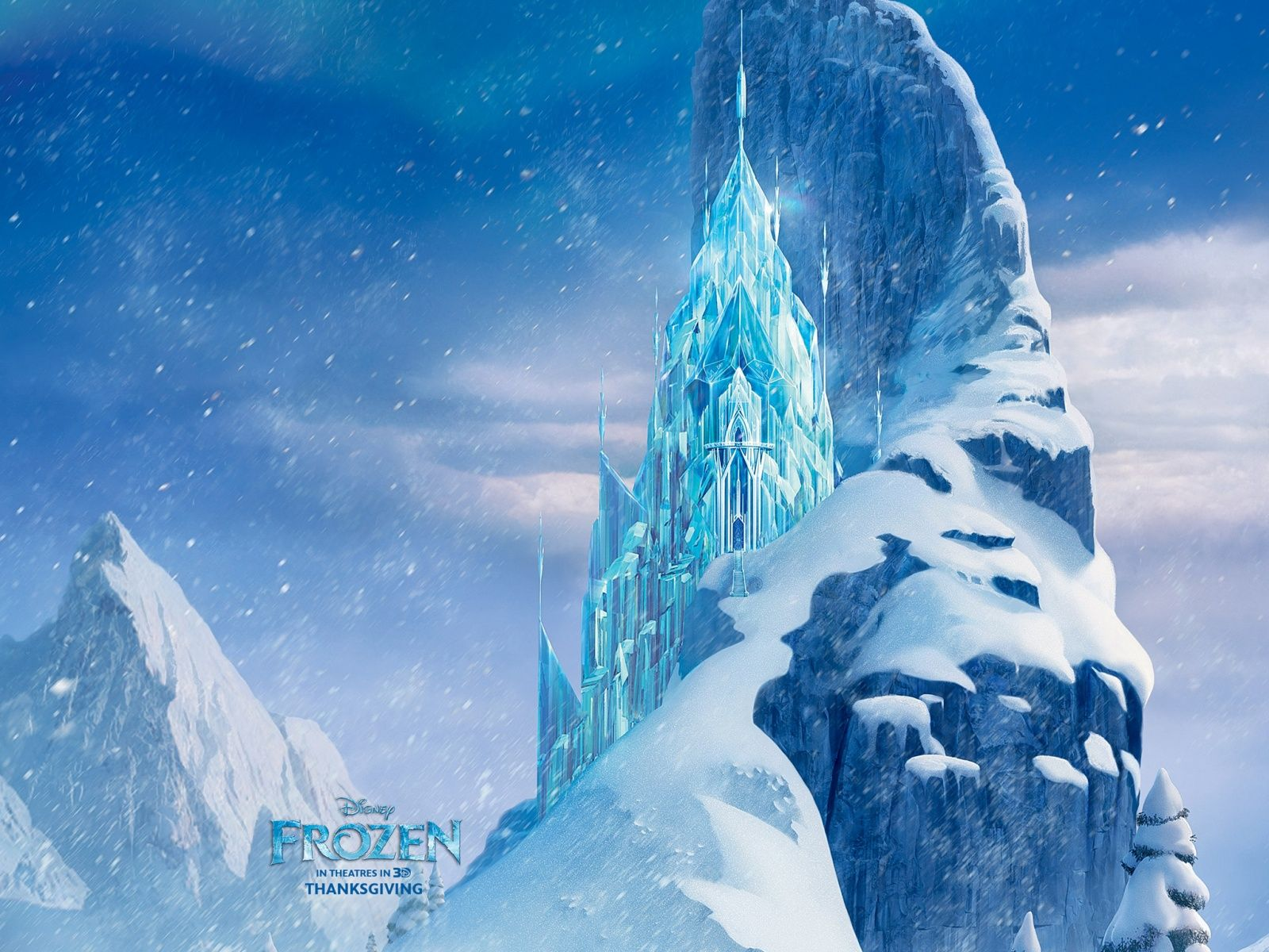 icecastle disney frozen movie hd wallpaper - Chateau De La Reine Des Neiges