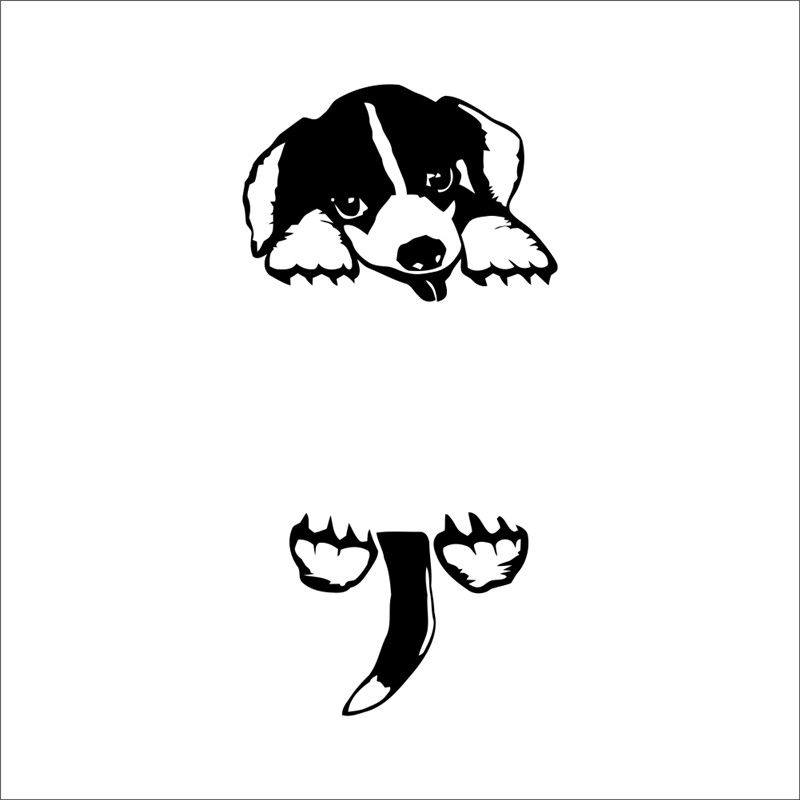 Adorable animal Lindo Cachorro Perro Pared Adhesivo Calcomanía Vinilo Arte A4