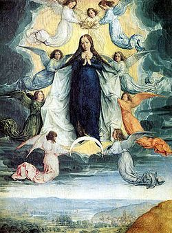 Ascension of the virgin Michel Sittow