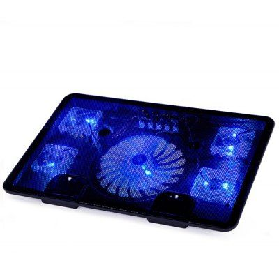 N5 5 Fans Laptop Cooling Pad Radiator Notebook Stand Laptop Led