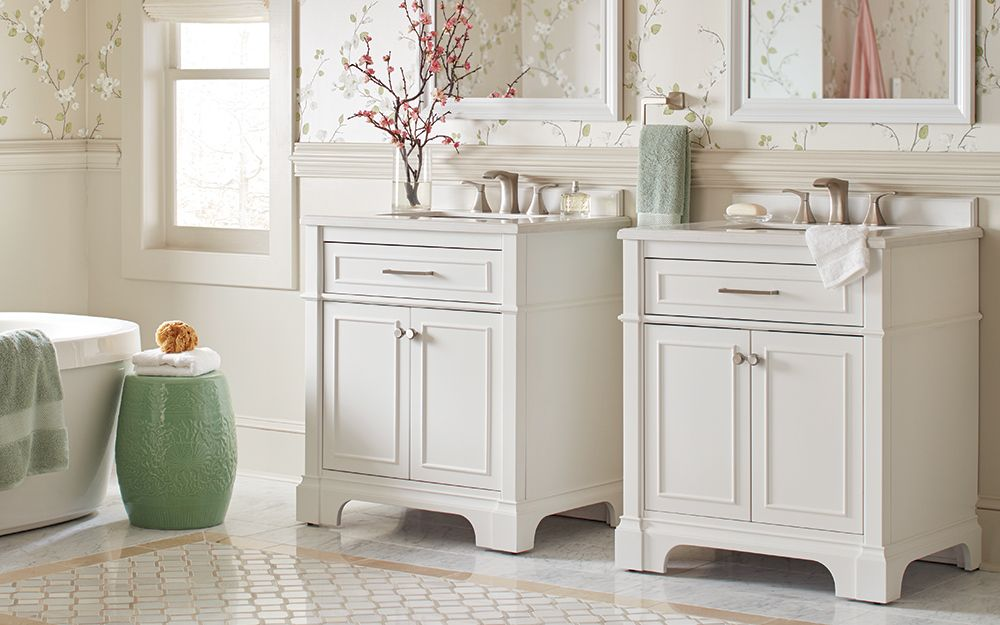 Two Single Vanities Can Give Ample Storage And Counterspace