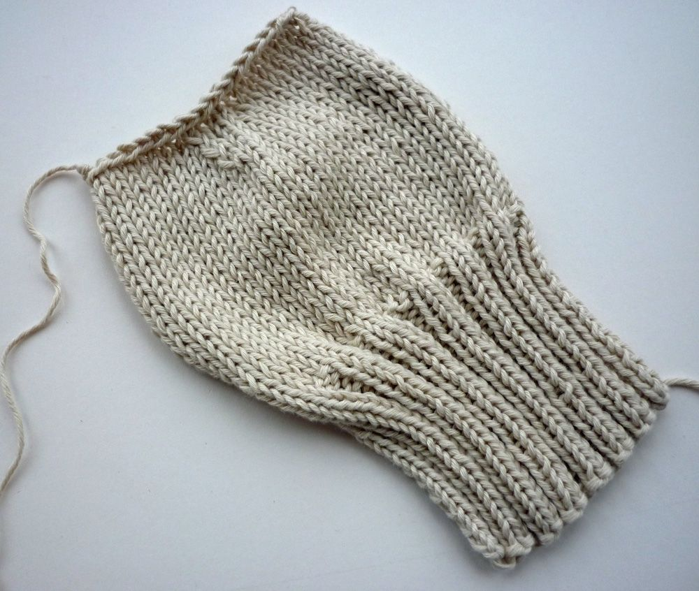 This is my pattern for baby mittens. They are knit on two needles ...