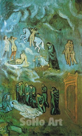 Picasso Surreal Landscape Paintings The Burial Of Casagemas