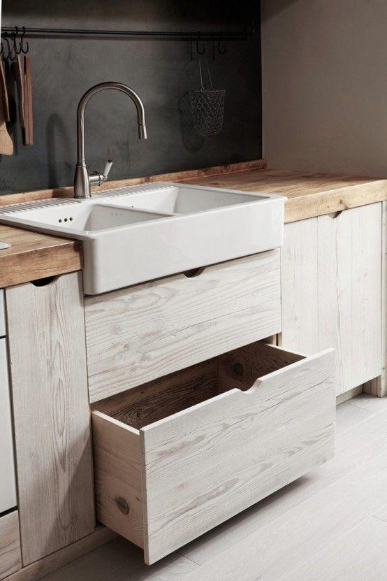 Photo of Schöne Schwarze Und Weiße Holz Küche Design | Mobelkunst.com