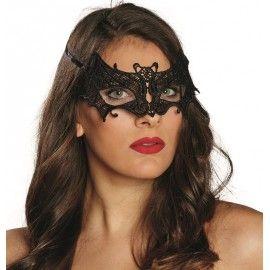 Loup dentelle chauve-souris noire femme   Déguisement Halloween ... 0e0cd74b7522