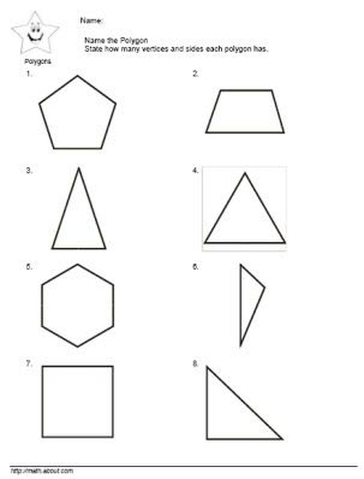 2nd Grade Math: Teach the Kids Polygons With These Nifty Worksheets: Name the Polygons Worksheet