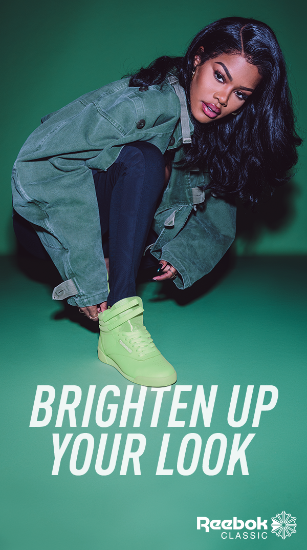 various colors af002 79224 Reebok Classic Freestyle Hi in Lime Glow. Explore all the brights.