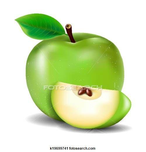 Green Apple Clipart K19699741 Apple Art Clip Art Green Apple
