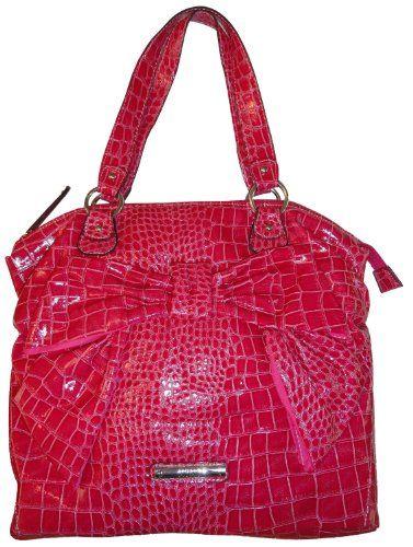 Women S Xoxo Purse Handbag Bow Tie Double Handle Fuchsia Co Uk Clothing