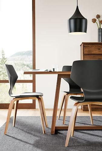 Pike Chair with Wood Base | Chairs for small spaces ...