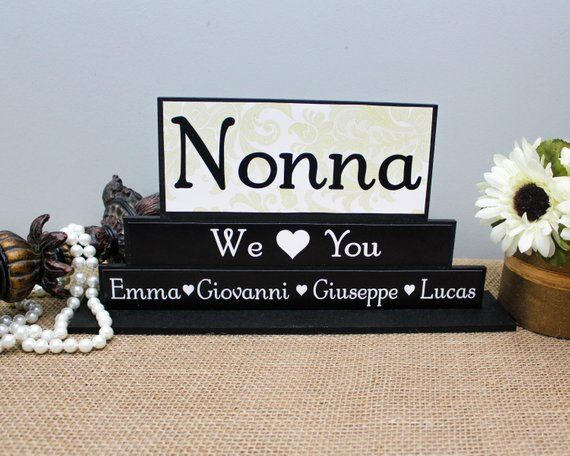 Nonna Christmas Gift, Nonna Birthday Present, Gift For Mom, Italian Grandma Gift, Handmade Gift for Her, Custom Grandparents Day Gift #grandparentsdaygifts