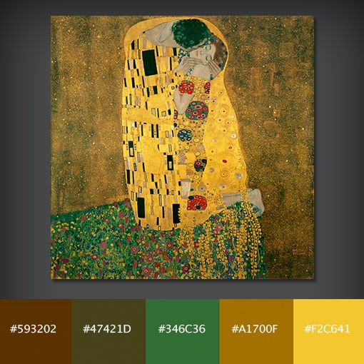 10 Free Color Palettes From 10 Famous Paintings Home Decor