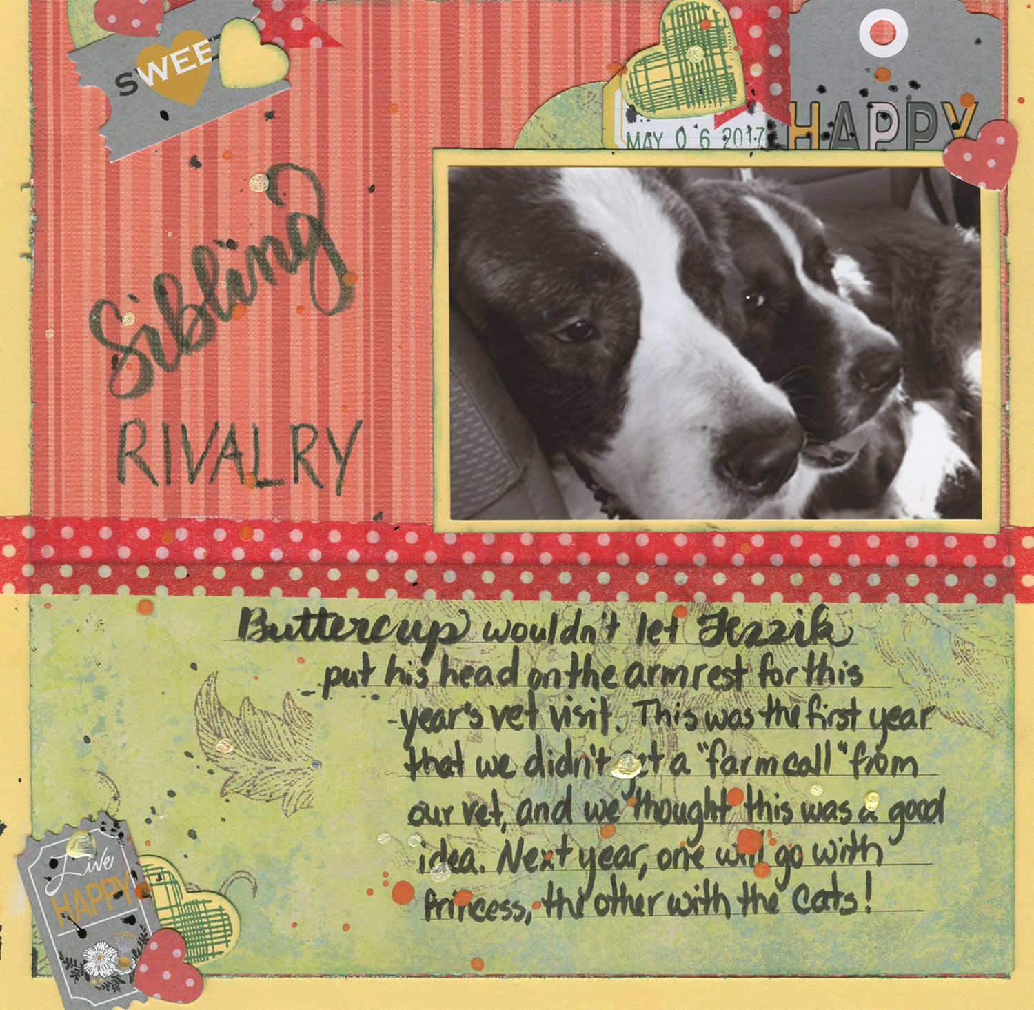 How to scrapbook 8x8 layouts - Sibling Rivalry Scrapbook Com An 8x8 Single Photo Layout With Washi Lettering