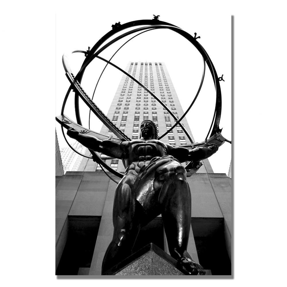 Atlas By Cateyes Framed Photographic Print On Wrapped Canvas Atlas Shrugged Atlas Sculpture Trademark Art