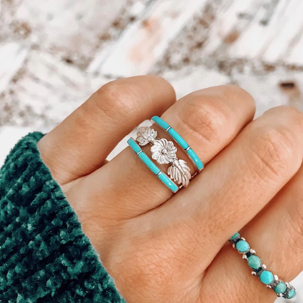 Rts The Super Thin Ring Real Turquoise Jewelry Turquoise Wedding Rings Handmade Turquoise Jewelry