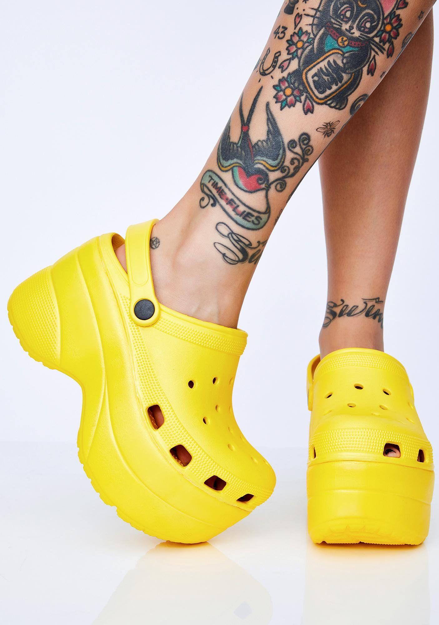 shock la croxx platform sandals