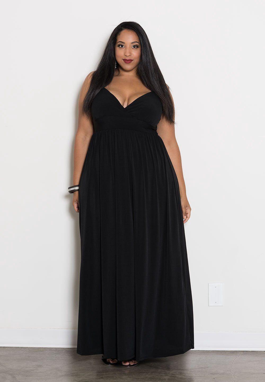 Sealed With A Kiss Sabrina Maxi Dress 2x Maxi Dress Plus Size Black Dresses Plus Size Outfits [ 1440 x 1000 Pixel ]