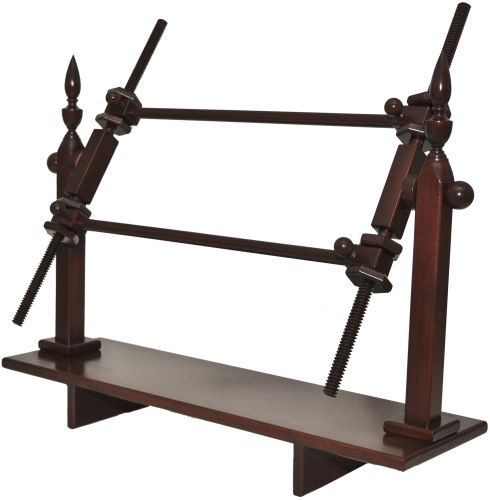 Colonial Mahogany Large Needlepoint Rotating Scroll Frame Lap Stand ...