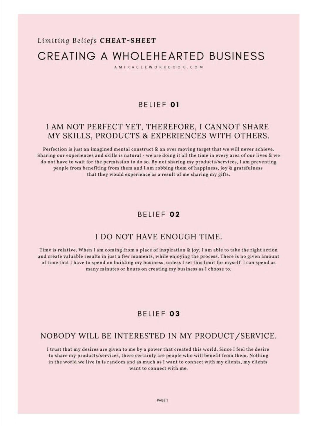 Shifting Beliefs Around Business Beliefs Business Mindset Business