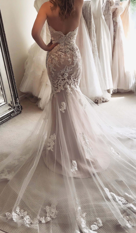 Enzoani Blue Katerina Mermaid Wedding Dress Enzoani Wedding Dresses Boho Style Wedding Dress [ 3077 x 1796 Pixel ]