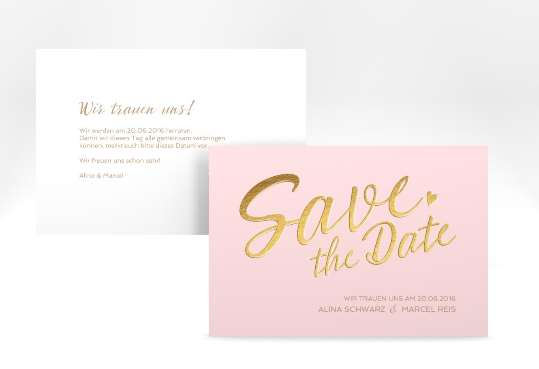 Save the Date-Karte \