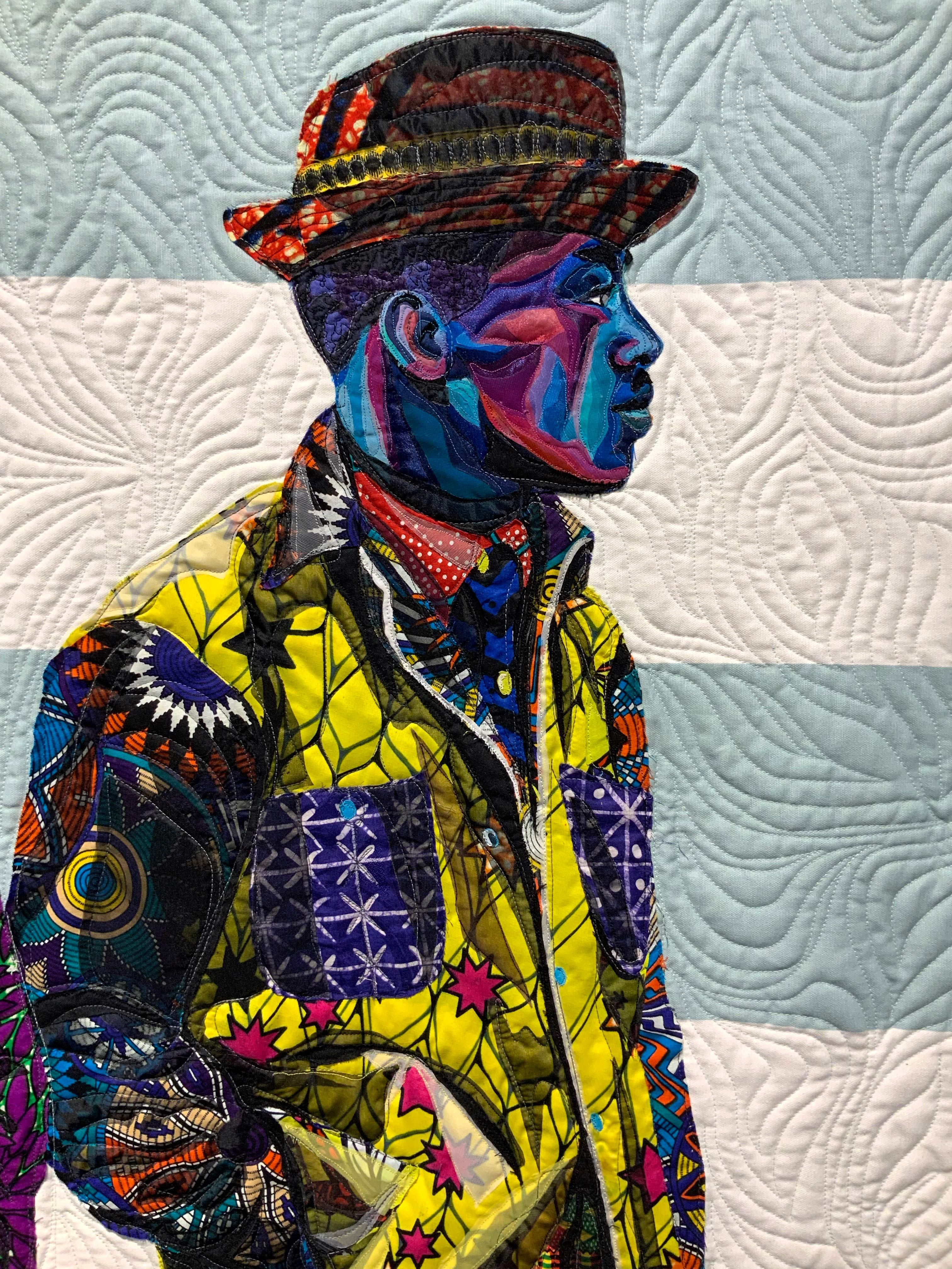 Bisa Butler Claire Oliver Gallery In 2020 Black Artists African American Artist Colorful Quilts
