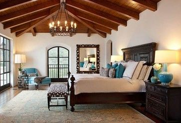 Contemporary Santa Barbara Style Home Mediterranean Bedroom