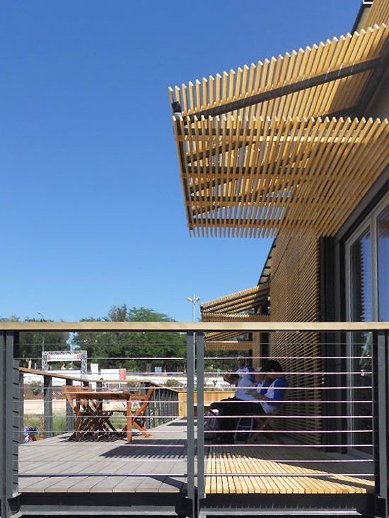 Re Focus House At The Solar Decathlon Architecture Natural Ventilation Patio Privacy