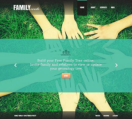 Template 42895 - Family Circle Website Template | Best Web Templates ...