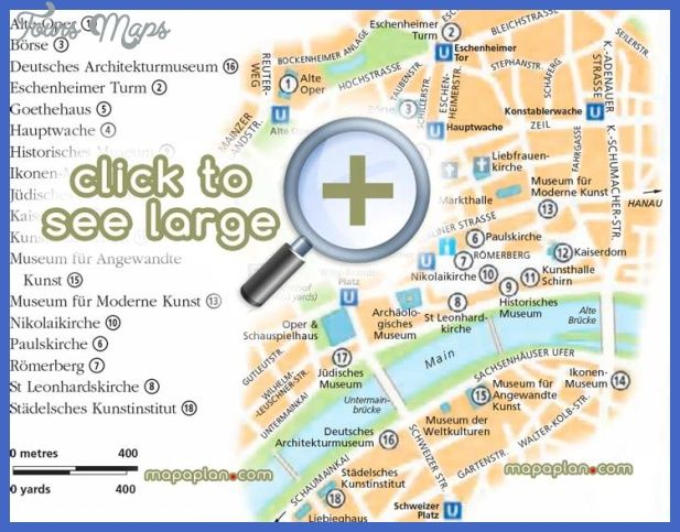 Frankfurt Map Tourist Attractions httptoursmapscomfrankfurt