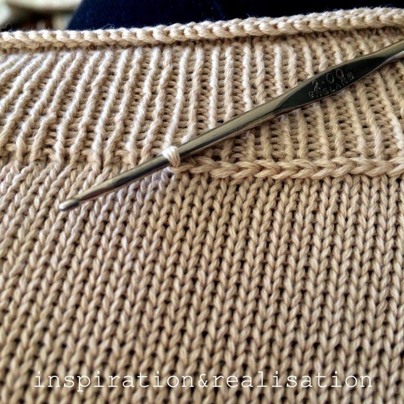 DIY интарсия коралловый свитер