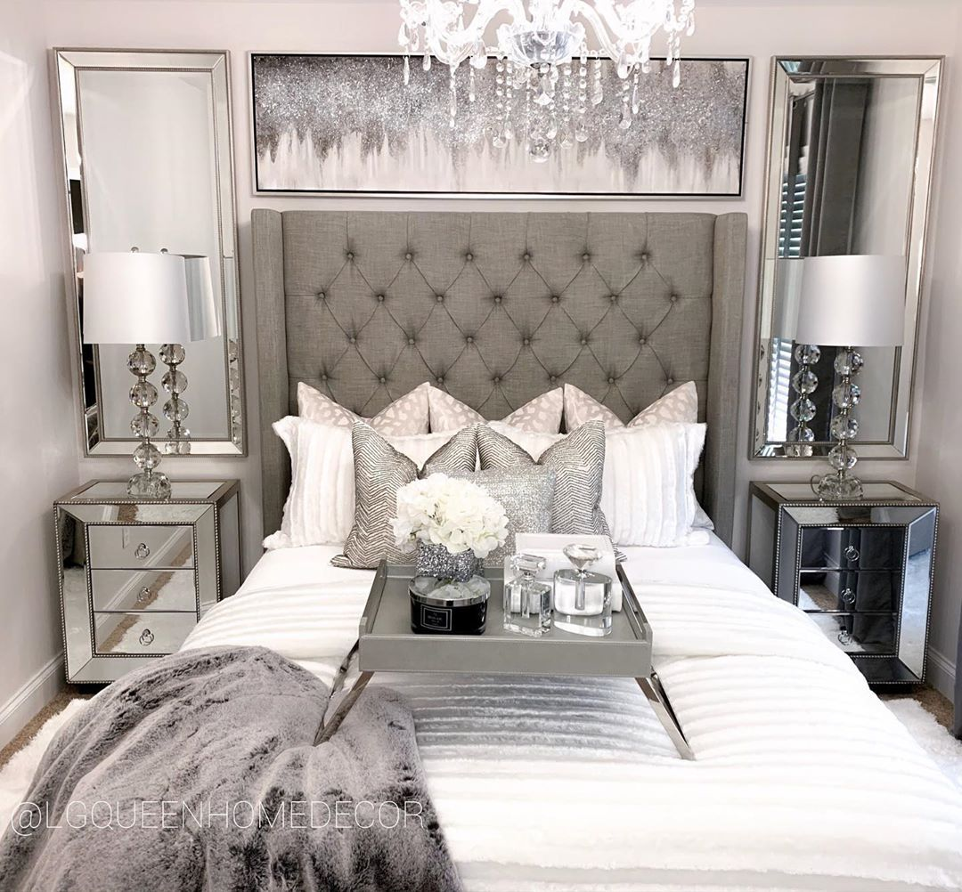 Lgqueen Home Decor On Instagram Swipe For The Before And After I Gave My Guest Bedroom An Updated Makeover F Home Decor Grey Bedroom Decor Bedroom Decor