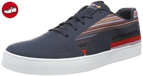 RBR Wings Vulc Speed, Baskets Basses Mixte Adulte, Bleu (Total Eclipse-Total Eclipse-Spectra Yellow 01), 39 EUPuma
