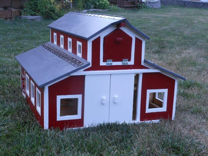 Double Monitor Barn Handcrafted Wooden Toy Barn Gift Ideas For