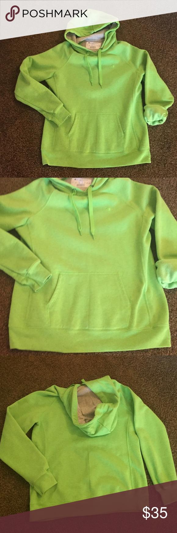 choose original yet not vulgar shop for genuine Champion hoodie 💚Lime green • size -L💚 Champion ECO hoodie ...