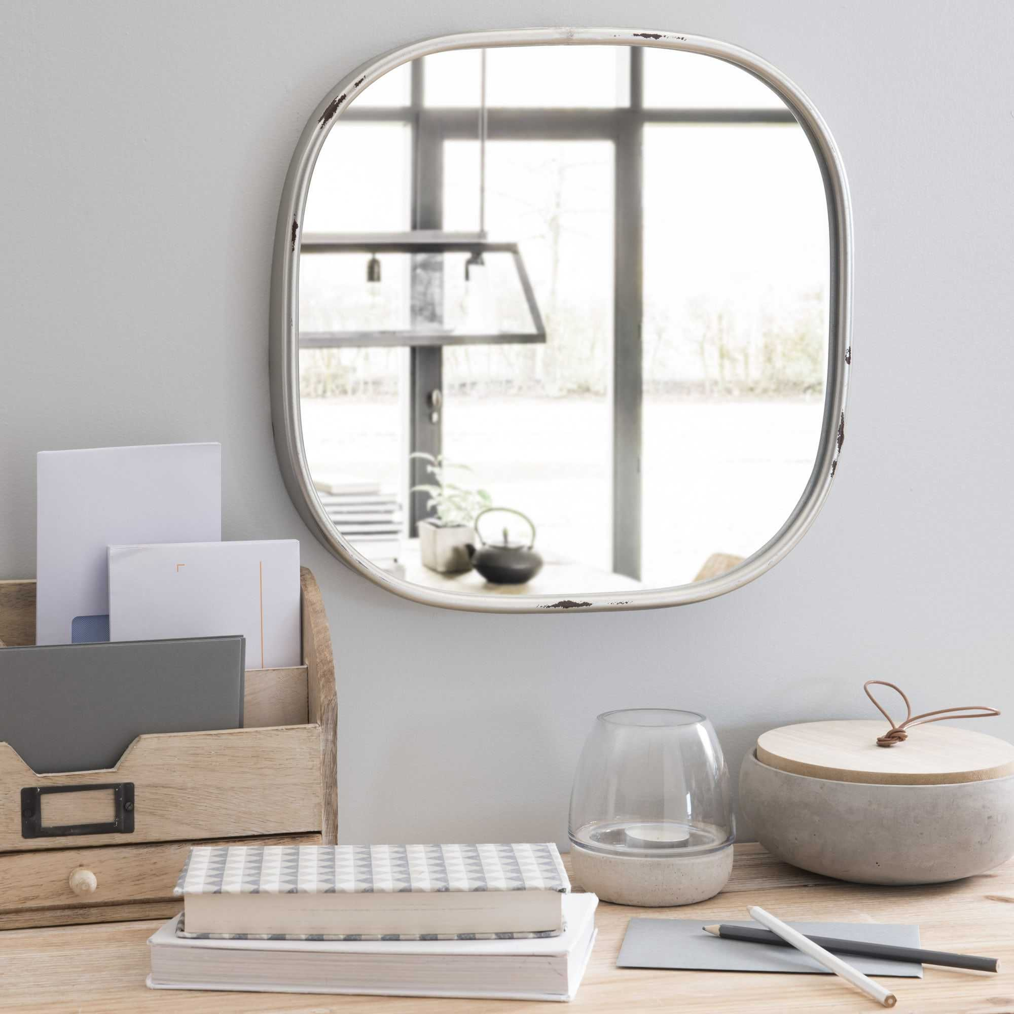 Miroir En M Tal Argent H 37 Cm Berkley Accessoires Deco Sejour