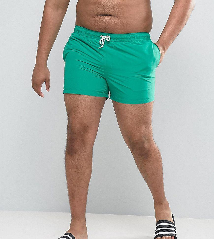 9abcf857b52 ASOS PLUS Swim Shorts In Green Short Length - Green | Products ...