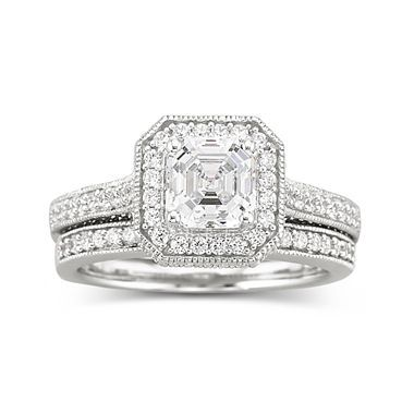 Brilliant Facets Cubic Zirconia Engagement Ring jcpenney rings