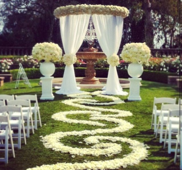 Beautiful Wedding Setup For A Ceremony, Fit For A Princess
