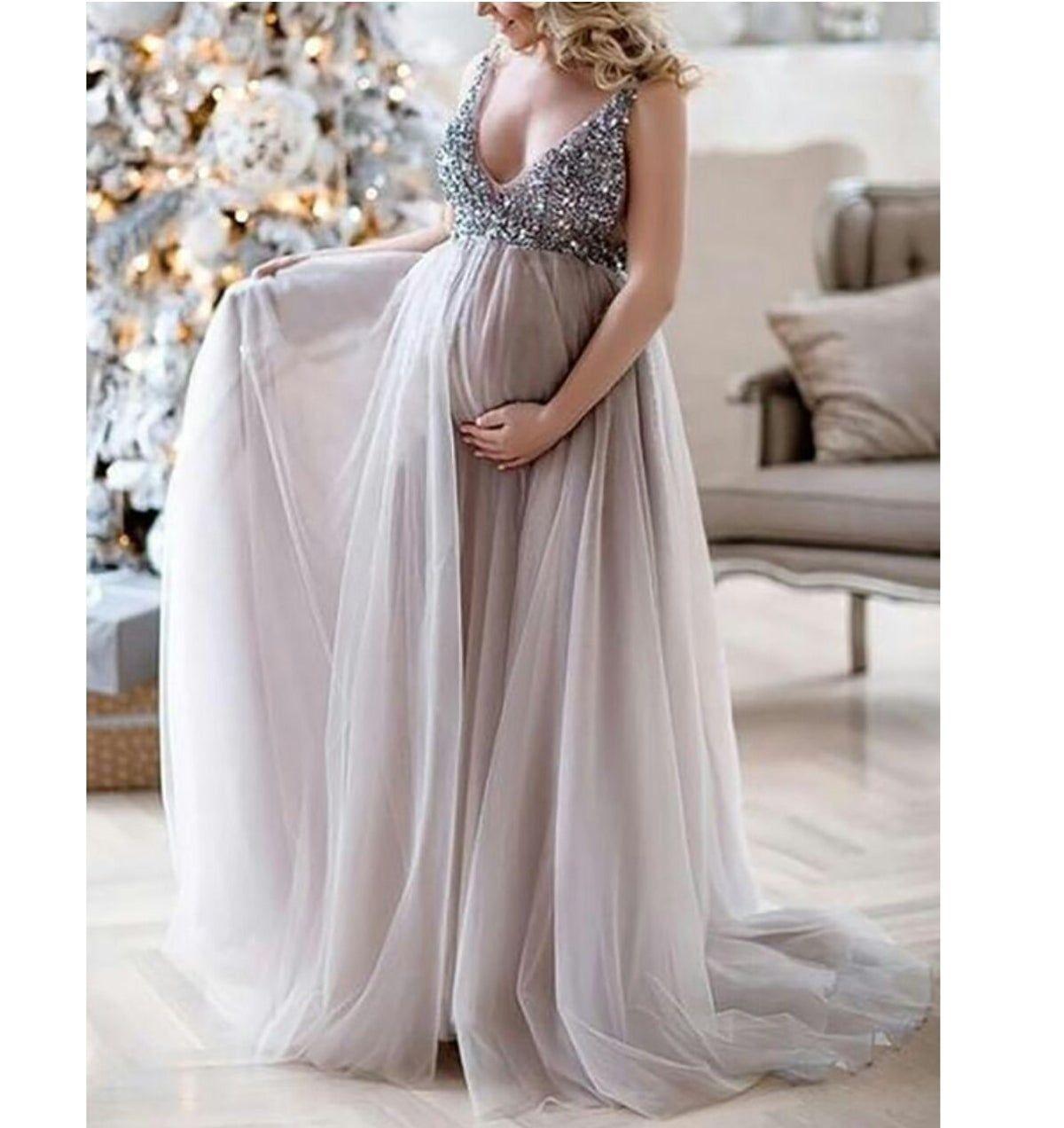 Maternity Sequins Dress