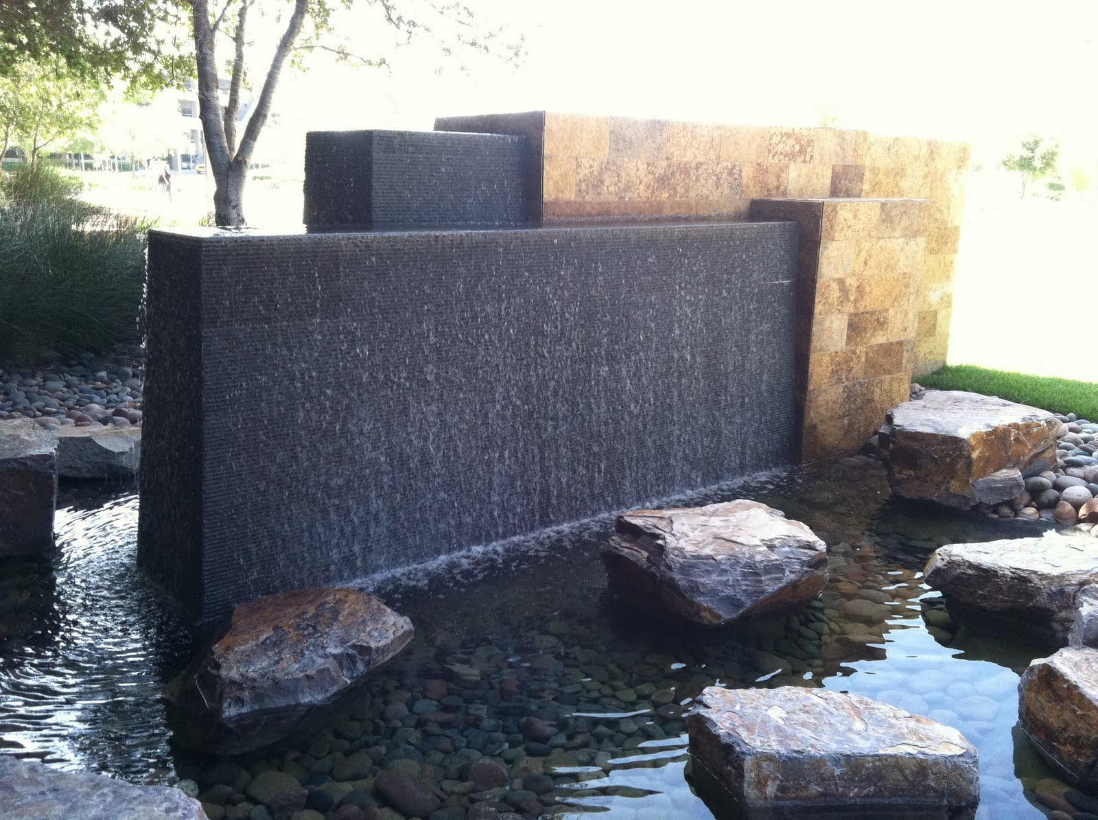 Contemporary Outdoor Water Fountains Water Feature Wall Modern