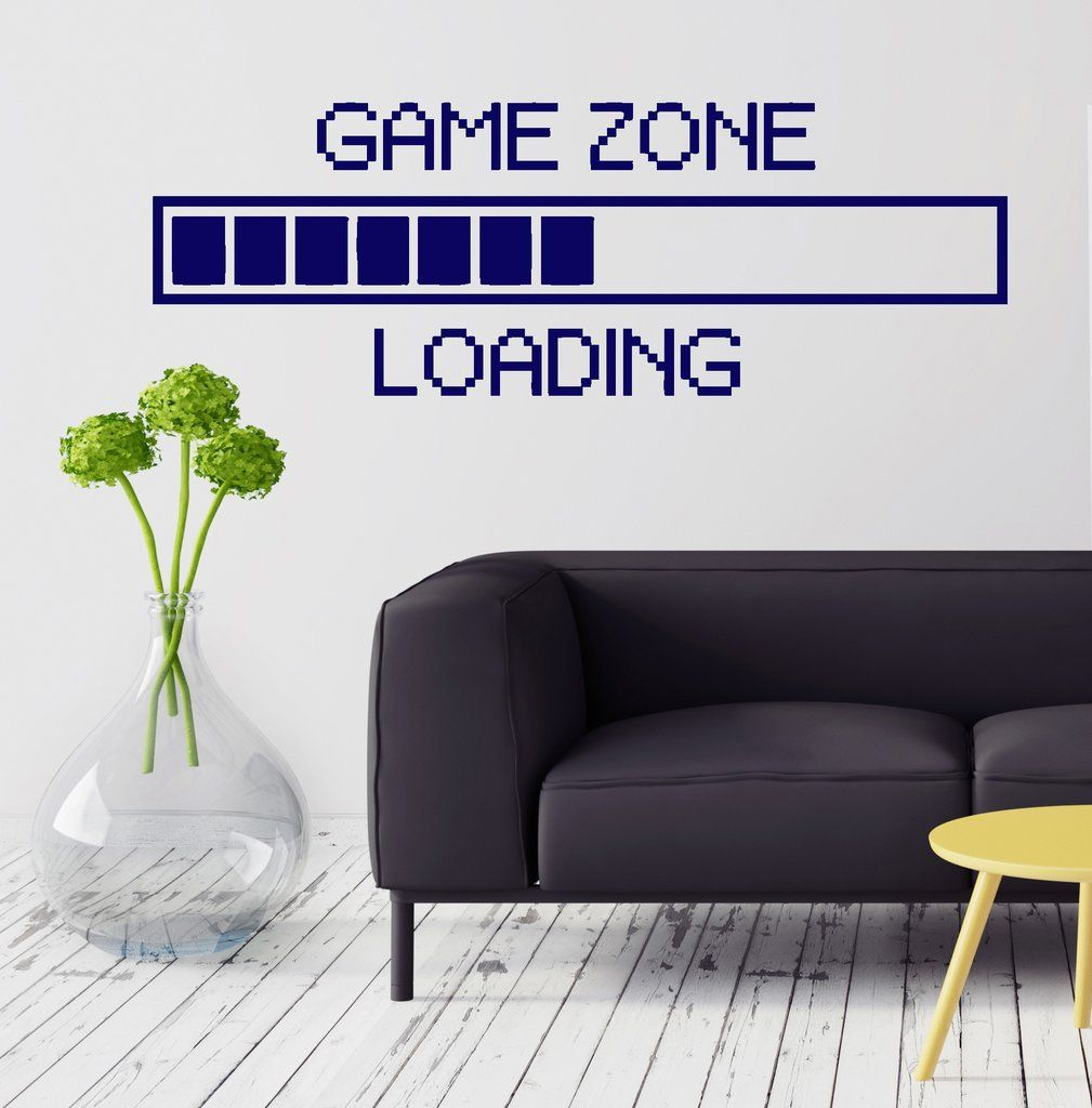 Vinyl Decal Game Zone Computer Gaming Decor Loading Video Game Wall ...