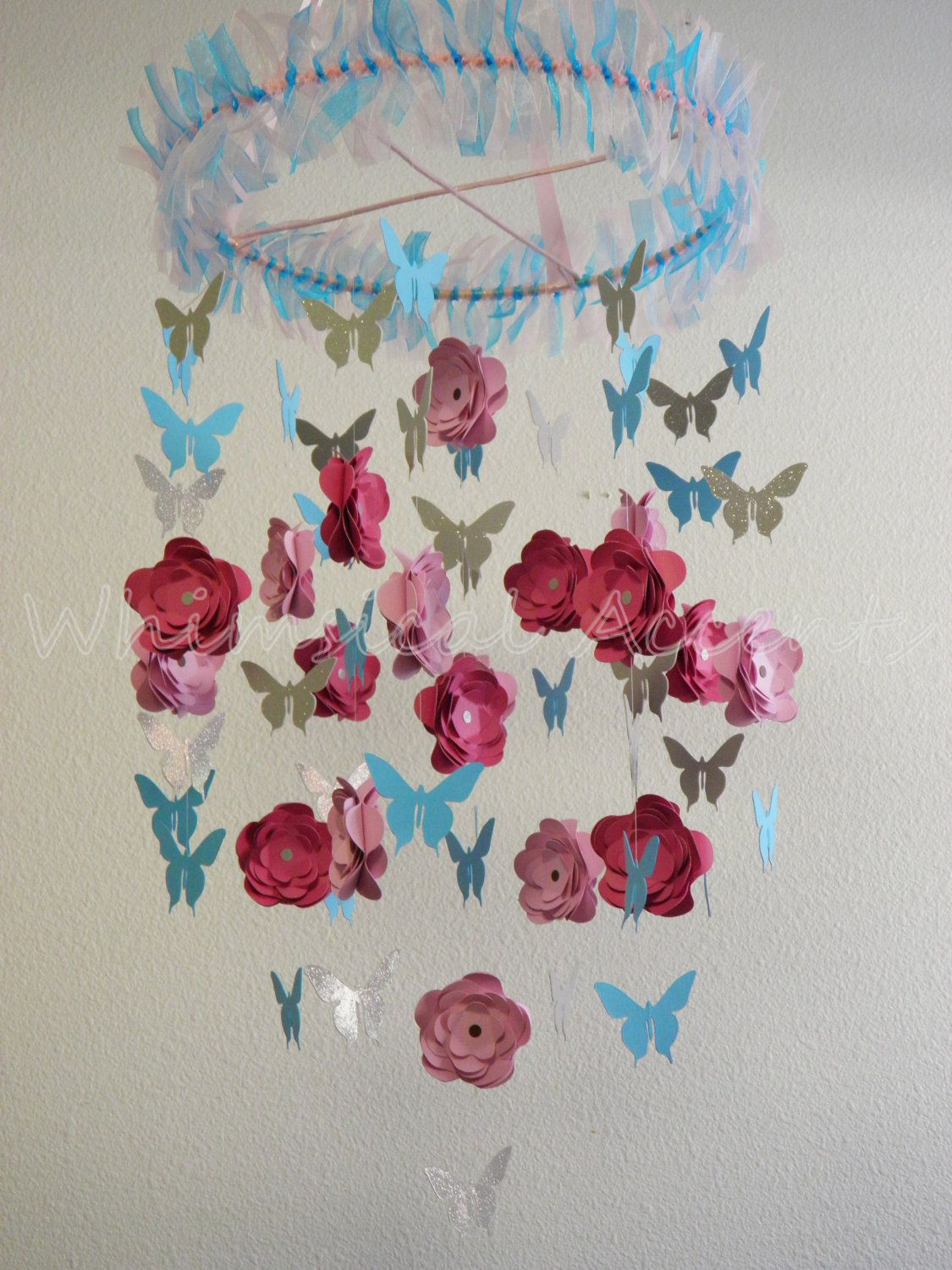 Cherry Blossom and  Butterfly Baby Paper by whimsicalaccents, $75.00