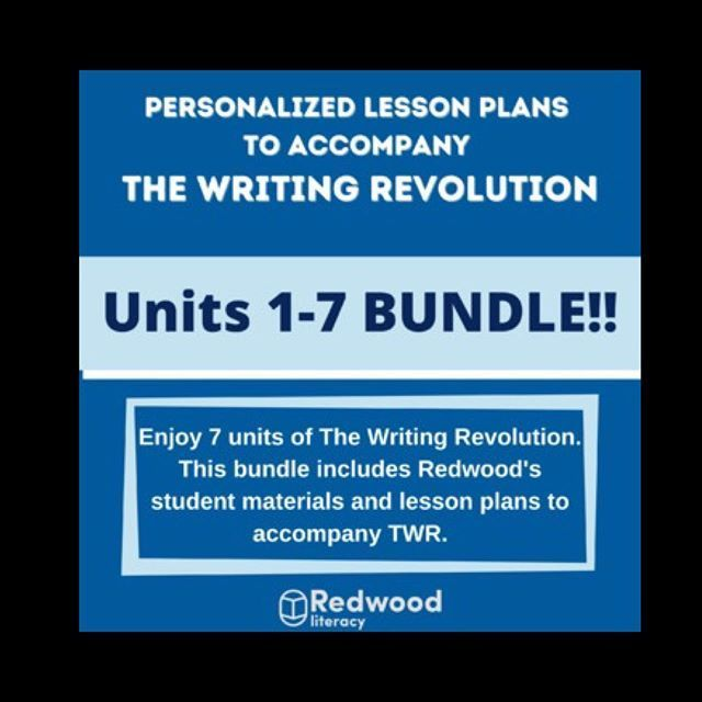 SALE: Redwood Literacy's Units 1-7 Bundle to Accom