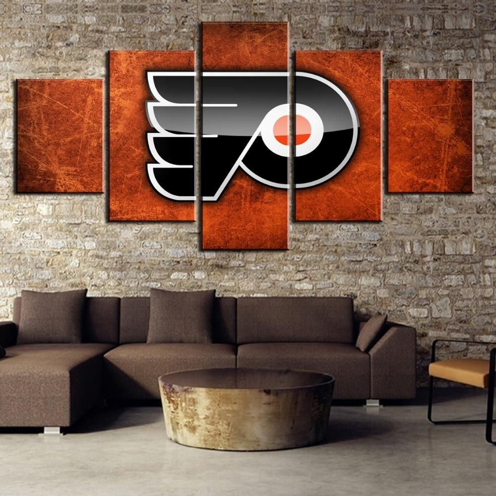 5 panel philadelphia flyers canvas wall art painting for