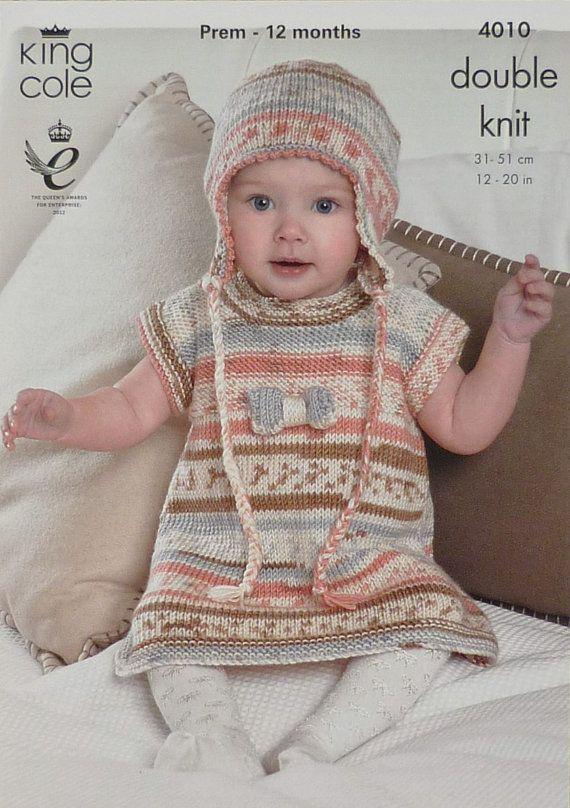 Vestido y sombrero hecho de punto patrón por KnittingPatterns4U ...