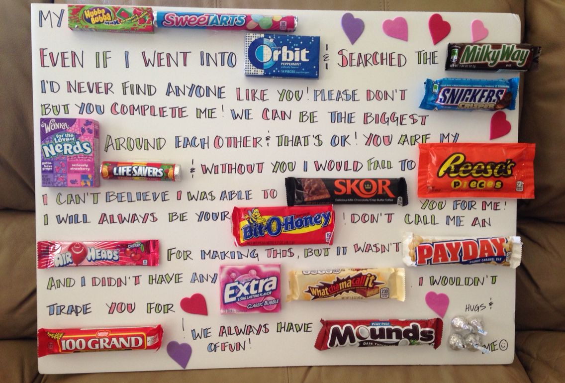 Sixth Wedding Anniversary Gift: Fun 6th Anniversary Candy Board!