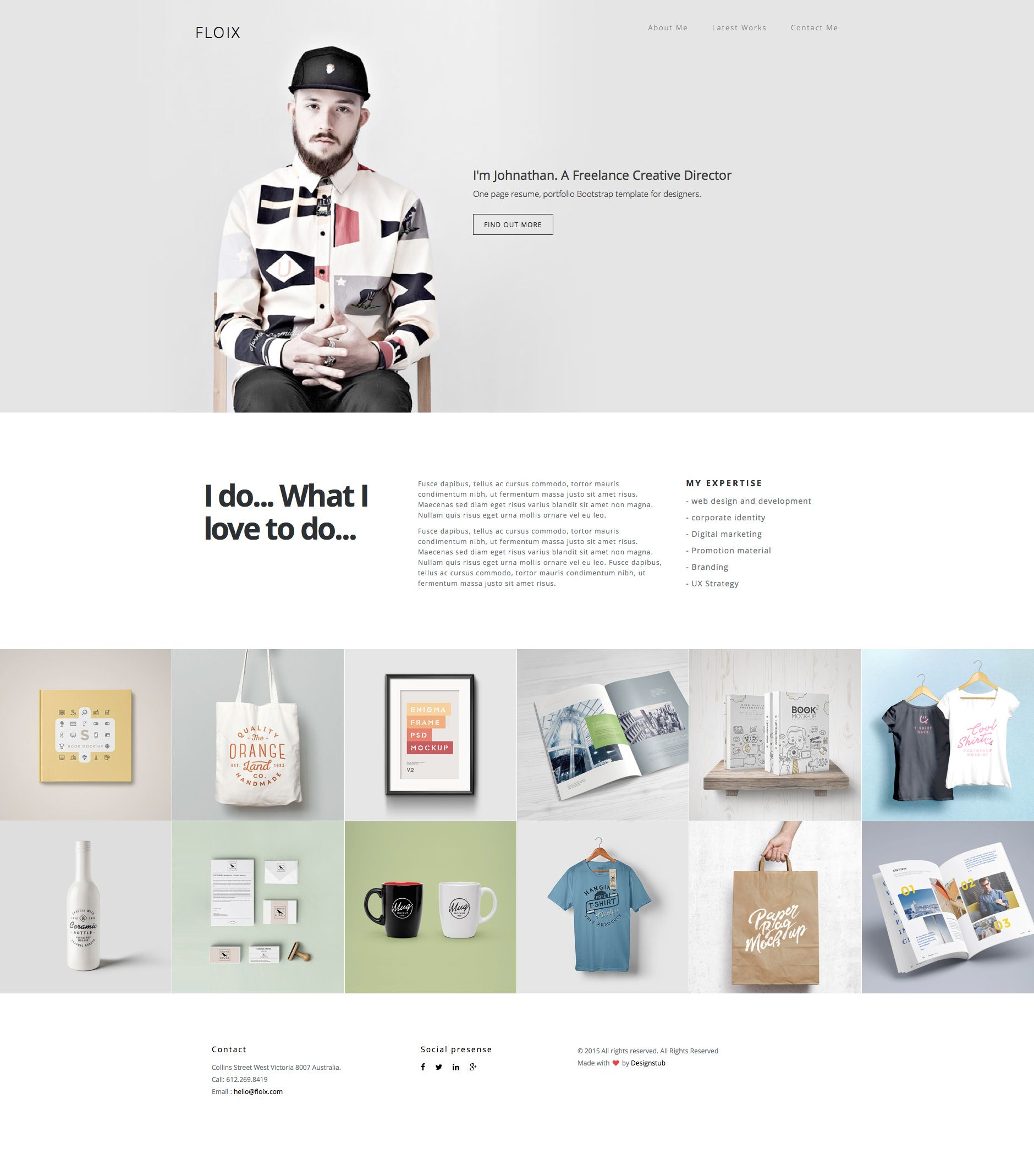floix is a free responsive html5 bootstrap one page website