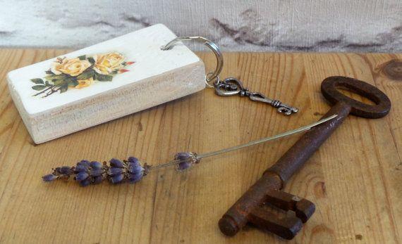 Decoupage Wood Key Ring Keyrings Womens Keyrings by SCWVintage Decoupage  Wood 31d96a8036